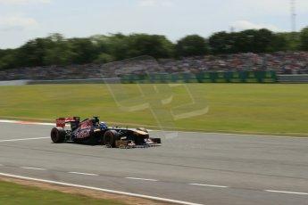 World © Octane Photographic Ltd. F1 British GP - Silverstone, Saturday 29th June 2013 - Qualifying. Scuderia Toro Rosso STR 8 - Daniel Ricciardo. Digital Ref : 0730lw1d1803