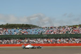 World © Octane Photographic Ltd. F1 British GP - Silverstone, Sunday 30th June 2013 - Race. Mercedes AMG Petronas F1 W04 – Lewis Hamilton. Digital Ref : 0734lw1d2110