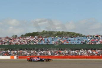 World © Octane Photographic Ltd. F1 British GP - Silverstone, Sunday 30th June 2013 - Race. Scuderia Toro Rosso STR8 - Jean-Eric Vergne. Digital Ref : 0734lw1d2155