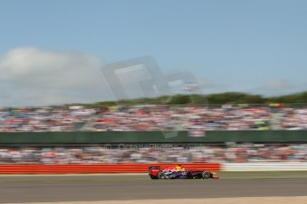 World © Octane Photographic Ltd. F1 British GP - Silverstone, Sunday 30th June 2013 – Race. Infiniti Red Bull Racing RB9 - Sebastian Vettel. Digital Ref : 0734lw1d2267