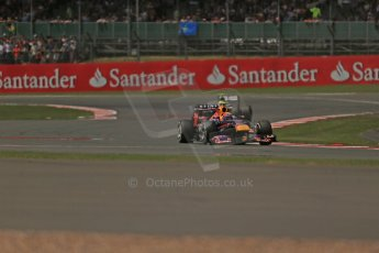 World © Octane Photographic Ltd. F1 British GP - Silverstone, Sunday 30th June 2013 - Race. Infiniti Red Bull Racing RB9 - Mark Webber. Digital Ref : 0734lw1d2507