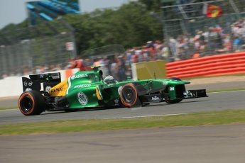 World © Octane Photographic Ltd. F1 British GP - Silverstone, Sunday 30th June 2013 - Race. Caterham F1 Team CT03 - Giedo van der Garde. Digital Ref :