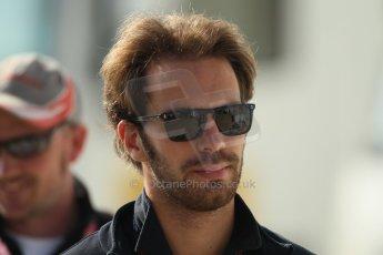 World © Octane Photographic Ltd. F1 British GP - Silverstone, Sunday 30th June 2013 – F1 Paddock. Jean-Eric Vergne - Toro Rosso. Digital Ref : 0733lw1d1623