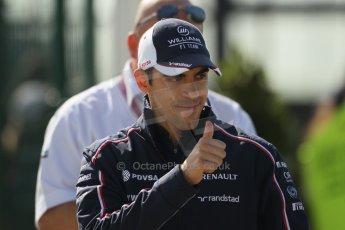 World © Octane Photographic Ltd. F1 British GP - Silverstone, Sunday 30th June 2013 – F1 Paddock. Pastor Maldonado - Williams. Digital Ref : 0733lw1d1629