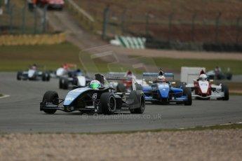 World © Octane Photographic Ltd. 2013 Protyre Formula Renault Championship – Donington Park, Sunday 14th April 2013 - Race 2. Joe Ghanem - MTECH Lite. Digital ref : 0635lw1d3508