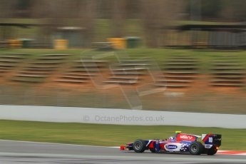 World © Octane Photographic Ltd. GP2 Winter testing, Barcelona, Circuit de Catalunya, 5th March 2013. Carlin – Jolyon Palmer. Digital Ref: 0585cb7d1286