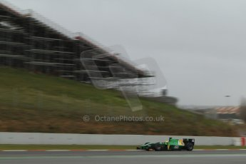 World © Octane Photographic Ltd. GP2 Winter testing, Barcelona, Circuit de Catalunya, 5th March 2013. Caterham Racing – Sergio Canamasas. Digital Ref: 0585cb7d1345