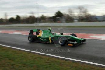 World © Octane Photographic Ltd. GP2 Winter testing, Barcelona, Circuit de Catalunya, 6th March 2013. Caterham Racing – Ma Qing Hua. Digital Ref: 0586lw7d1489
