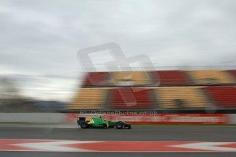 World © Octane Photographic Ltd. GP2 Winter testing, Barcelona, Circuit de Catalunya, 6th March 2013. Caterham Racing – Ma Qing Hua. Digital Ref: 0586lw7d1506
