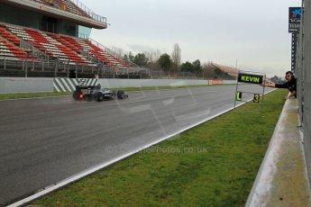 World © Octane Photographic Ltd. GP2 Winter testing, Barcelona, Circuit de Catalunya, 6th March 2013. Venezuela GP Lazarus – Kevin Giovesi. Digital Ref: 0586lw7d1854