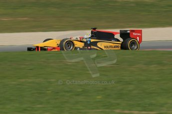 World © Octane Photographic Ltd. GP2 Winter testing, Barcelona, Circuit de Catalunya, 7th March 2013. DAMS – Marcus Ericsson. Digital Ref: 0587lw1d3500