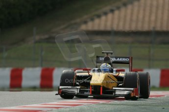 World © Octane Photographic Ltd. GP2 Winter testing, Barcelona, Circuit de Catalunya, 7th March 2013. DAMS – Marcus Ericsson. Digital Ref: 0587lw1d3610
