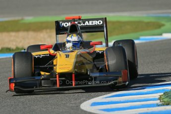 World © Octane Photographic Ltd. GP2 Winter testing, Jerez, 26th February 2013. DAMS – Marcus Ericsson. Digital Ref: 0580cb1d6425