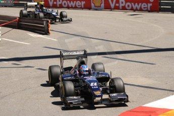 World © Octane Photographic Ltd. GP2 Monaco GP, Monte Carlo, Thursday 23rd May 2013. Practice and Qualifying. Rene Binder and Kevin Giovesi - Venezuela GP Lazarus. Digital Ref : 0693cb7d0874