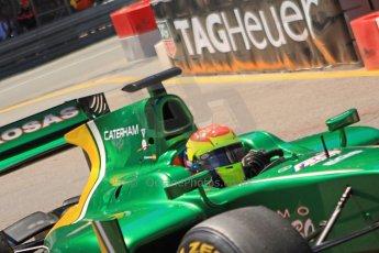 World © Octane Photographic Ltd. GP2 Monaco GP, Monte Carlo, Thursday 23rd May 2013. Practice and Qualifying. Sergio Canamasas – EQ8 Caterham Racing. Digital Ref: 0693cb7d1111