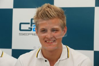 World © Octane Photographic Ltd. GP2 Spanish GP, Circuit de Catalunya, Friday 10th May 2013. Qualifying press conference. Pole position Marcus Ericsson - DAMS. Digital Ref : 0663cb1d9980