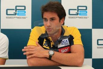 World © Octane Photographic Ltd. GP2 Spanish GP, Circuit de Catalunya, Friday 10th May 2013. Qualifying press conference. 3rd - Felipe Nasr - Carlin. Digital Ref : 0663cb1d9995