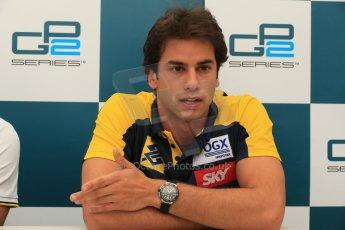 World © Octane Photographic Ltd. GP2 Spanish GP, Circuit de Catalunya, Friday 10th May 2013. Qualifying press conference. 3rd - Felipe Nasr - Carlin. Digital Ref : 0663cb1d9997