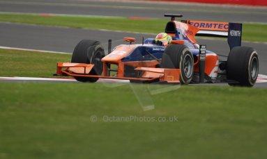 World © Octane Photographic Ltd. GP2 British GP, Silverstone, Friday 28th June 2013. Practice. Robin Frijns - Hilmer Motorsport. Digital Ref : 0725cj7d0716