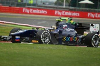 World © Octane Photographic Ltd. GP2 British GP, Silverstone, Friday 28th June 2013. Practice. Tom Dillmann – Russian TIME. Digital Ref : 0725cj7d0814