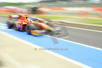 World © Octane Photographic Ltd. GP2 British GP, Silverstone, Friday 28th June 2013. Qualifying. Fabio Leimer- Racing Engineering and Robin Frijns - Hilmer Motorsport go wheel-to-wheel in the pitlane. Digital Ref: 0727ce1d7401