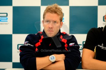 World © Octane Photographic Ltd. GP2 British GP, Silverstone, Friday 28th June 2013. Qualifying press conference. Sam Bird - Russian Time. Digital Ref :