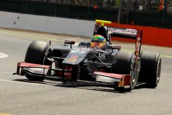 World © Octane Photographic Ltd./Chris Enion. GP2 British GP, Silverstone, Saturday 29th June 2013. Race 1. Kevin Giovesi - Venezuela GP Lazarus. Digital Ref : 0731ce1d8276