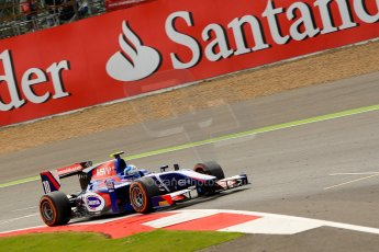 World © Octane Photographic Ltd./Chris Enion. GP2 British GP, Silverstone, Saturday 29th June 2013. Race 1. Jolyon Palmer - Carlin. Digital Ref : 0731ce1d8711