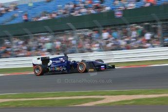 World © Octane Photographic Ltd. GP2 British GP, Silverstone, Sunday 30th June 2013. Race 2 Sam Bird – Russian TIME. Digital Ref : 0732lw1d1918