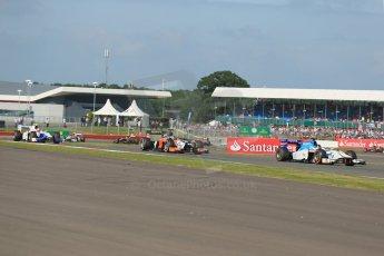 World © Octane Photographic Ltd. GP2 British GP, Silverstone, Sunday 30th June 2013. Race 2 Jake Rosenzweig - Barwa Addax Team and Adrian Quaife-Hobbs -  MP Motorsport. Digital Ref : 0732lw1d2000