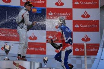 World © Octane Photographic Ltd. GP2 Spanish GP, Circuit de Catalunya, Saturday 11th May 2013. Race 1. Robin Frijns - Hilmer motorsport and Jolyon Palmer - Carlin. Digital Ref : 0666cb1d1763