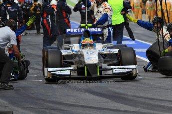 World © Octane Photographic Ltd. GP2 Spanish GP, Circuit de Catalunya, Saturday 11th May 2013. Race 1. Rio Haryanto - Barwa Addax Team. Digital Ref : 0666cb7d9227