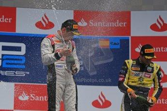 World © Octane Photographic Ltd. GP2 Spanish GP, Circuit de Catalunya, Sunday 12th May 2013. GP2 Race 2. Stefano Coletti – Rapax, Robin Frijns - Hilmer Motorsport and Felipe Nasr - Carlin. Digital Ref : 0670cb1d2372