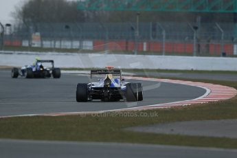 World © Octane Photographic Ltd. GP3 Testing - Wednesday 3rd April 2013 Dallara GP3/13 - Silverstone. Carlin – Nick Yelloly followed by Luis Sa Silva. Digital ref : 0627lw1d0498