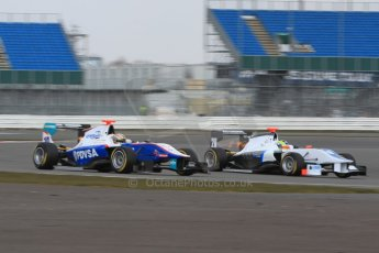 World © Octane Photographic Ltd. GP3 Testing - Wednesday 3rd April 2013 Dallara GP3/13 - Silverstone. Bamboo Engineering – Felipe Guimaraes and Jenzer Motorsport – Samin Gomez. Digital ref : 0627lw7d4147