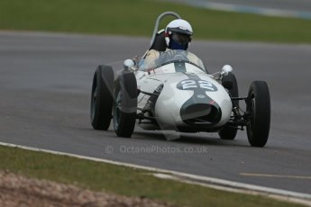 World © Octane Photographic Ltd. Donington Park 80th Anniversary Meeting (March 1933 – March 2013). HSCC/FJHRA Historic Formula Junior Championship – Race A Front Engine, morning practice and qualifying. Anthony Smith – Elva 100. Digital Ref : 0598lw1d5233