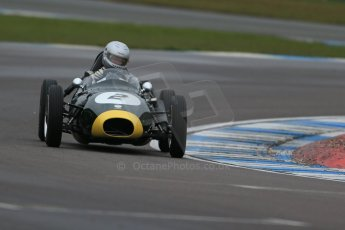 World © Octane Photographic Ltd. Donington Park 80th Anniversary Meeting (March 1933 – March 2013). HSCC/FJHRA Historic Formula Junior Championship – Race A Front Engine, morning practice and qualifying. Mark Woodhouse – Elva 100. Digital Ref : 0598lw1d5239