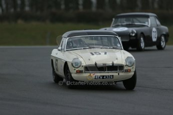 World © Octane Photographic Ltd. Donington Park 80th Anniversary Meeting (March 1933 – March 2013). HSCC Historic Road Sports Championship supported by Witchampton Garage (Inc. Class B2 Guards Trophy), morning practice and qualifying. David Beresford – MGB. Digital Ref : 0599lw1d5302
