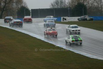 World © Octane Photographic Ltd. Donington Park 80th Anniversary Meeting (March 1933 – March 2013). HSCC 70s Road Sport Championship (Inc. Class B2 Guards Trophy). Peter Boyes/Jan Boyes – MGB lead the pack. Digital Ref : 0590lw1d6122