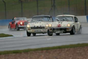 World © Octane Photographic Ltd. Donington Park 80th Anniversary Meeting (March 1933 – March 2013). HSCC 70s Road Sport Championship (Inc. Class B2 Guards Trophy). Luke Clake-Bagnall – Triumph GT6 and David Beresford – MGB. Digital Ref : 0590lw1d6183