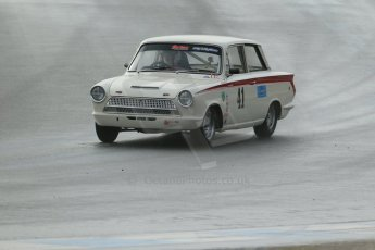 World © Octane Photographic Ltd. Donington Park 80th Anniversary Meeting (March 1933 – March 2013). HSCC/HRSR ByBx Historic Touring Car Championship. Neil Brown – Lotus Cortina. Digital Ref : 0592lw1d6602