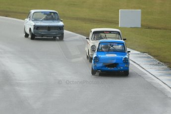 World © Octane Photographic Ltd. Donington Park 80th Anniversary Meeting (March 1933 – March 2013). HSCC/HRSR ByBx Historic Touring Car Championship. Ford Anglia 105E. Digital Ref : 0592lw1d6706