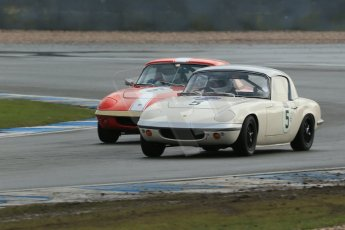 World © Octane Photographic Ltd. Donington Park 80th Anniversary Meeting (March 1933 – March 2013). HSCC Historic Road Sports Championship supported by Witchampton Garage (Inc. Class B2 Guards Trophy). Peter Shaw – Lotus Elan S1 and Larry Kennedy – Lotus Elan S4. Digital Ref : 0594lw1d6866