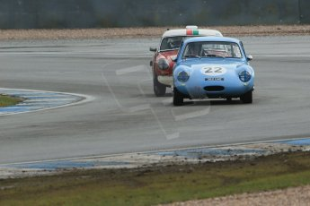 World © Octane Photographic Ltd. Donington Park 80th Anniversary Meeting (March 1933 – March 2013). HSCC Historic Road Sports Championship supported by Witchampton Garage (Inc. Class B2 Guards Trophy). Tony Davis – Austin Healey Sprite Mk1 and Paul Latimer – MGB. Digital Ref : 0594lw1d6907