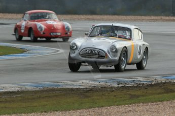 World © Octane Photographic Ltd. Donington Park 80th Anniversary Meeting (March 1933 – March 2013). HSCC Historic Road Sports Championship supported by Witchampton Garage (Inc. Class B2 Guards Trophy). Samuel Thomas – AC Aceca and Steve wright/Ian Clark – Porsche 356A. Digital Ref : 0594lw1d6920