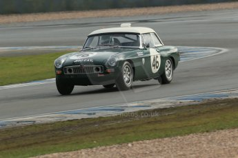 World © Octane Photographic Ltd. Donington Park 80th Anniversary Meeting (March 1933 – March 2013). HSCC Historic Road Sports Championship supported by Witchampton Garage (Inc. Class B2 Guards Trophy). Matthew Green/John Page – MGB. Digital Ref : 0594lw1d6983