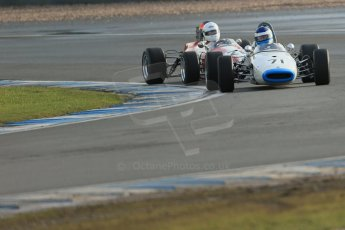 World © Octane Photographic Ltd. Donington Park 80th Anniversary Meeting (March 1933 – March 2013). HSCC Classic Racing Cars Championship, supported by the Cubicle Centre. Chris Holland – Brabham, BT21 and Steve Seaman – Brabham BT21. Digital Ref : 0595lw1d7152