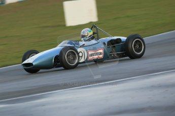World © Octane Photographic Ltd. Donington Park 80th Anniversary Meeting (March 1933 – March 2013). HSCC/FJHRA Historic Formula Junior Championship – Race B, Rear Engine cars, Classes C-E. Jonathon Hughes – Brabham BT6. Digital Ref : 0596lw1d7291