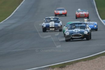 World © Octane Photographic Ltd. Donington Park 80th Anniversary Meeting (March 1933 – March 2013). HSCC Guards Trophy Car Championship supported by Dunlop Tyres. Alistair Dyson – Jaguar E-Type S1. Digital Ref :