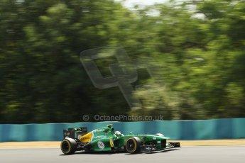World © Octane Photographic Ltd. F1 Hungarian GP - Hungaroring. Friday 26th July 2013. F1 Practice 2. Caterham F1 Team CT03 - Giedo van der Garde. Digital Ref : 0760lw1d0581